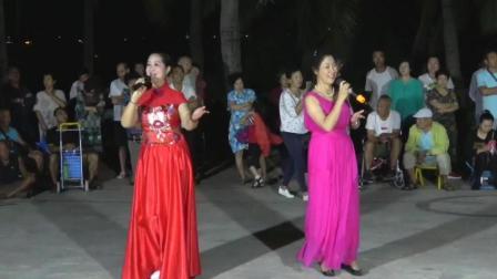 海南三亚(海虹艺术团)椰梦长廊演唱-歌曲《我和我的祖国》