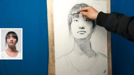 素描培训班素描人头像教学_速写临摹_几何体体积公式零基础学油画