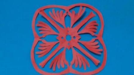 剪纸小课堂: 菊花纹样团花2