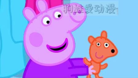 猪小妹佩奇在斑马苏怡家玩泰迪玩偶