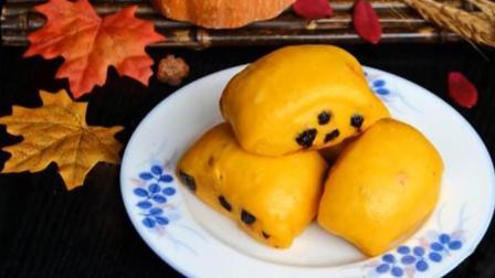黑加仑南瓜刀切馒头, 不加水不加糖, 蒸好的馒头自然有甜味, 健康又美味