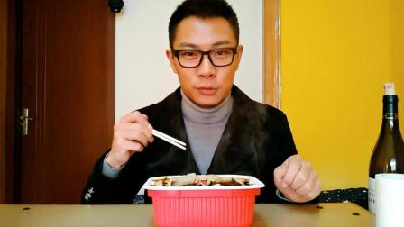 试吃一杯水的懒人自热火锅, 一锅麻辣鲜香, 大老爷们也吃不完