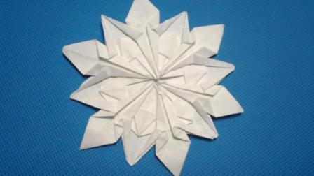 折纸王子大全 简单折纸 折纸王子教你折圣诞节雪花
