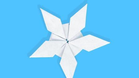简单亲子手工折纸, 少儿圣诞折纸雪花装饰