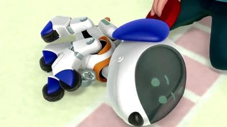 汪汪队立大功: 莱德成功的修好了机器狗! 狗狗们很高兴!