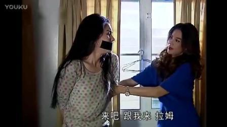 女孩被后妈捆绑关在黑屋, 正要带去别处, 帅气总裁来找女孩