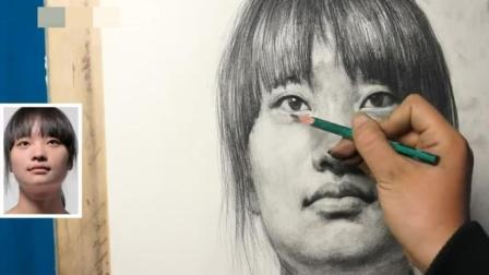 零基础素描班怎么画好素描_头像素描教学_肖像素描入门2人物素描教程