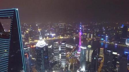航拍上海陆家嘴夜景, 不同的城市, 不同的不夜之城美景!
