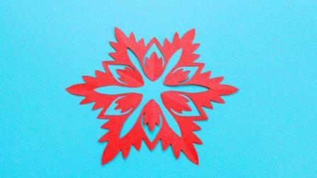 今年窗花不要买, 全都是自己剪的, 雪花窗花手工剪纸简单又漂亮