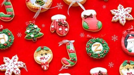 Lucycake老师的圣诞款糖霜饼干 最终呈现
