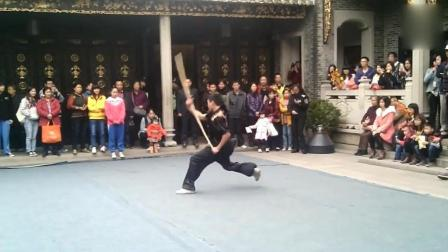 传统武术, 棍术表演, 强身健体弘扬传统武术!