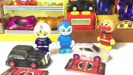 兜糖面包超人玩具 04 红豆面包超人玩具店 爆裂飞车玩具 红豆面包超人玩具店