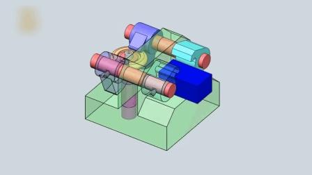 外置摆动夹紧结构的机械动态图, 看看设计理念