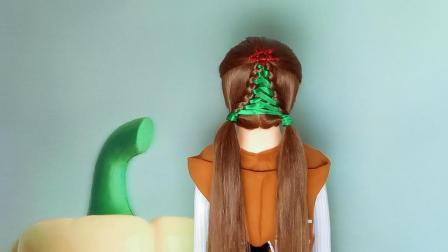 圣诞节给女儿扎棵圣诞树吧 超漂亮的小女孩发型