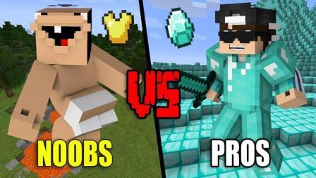 我的世界 菜鸟 vs 大神, 建房子PK赛