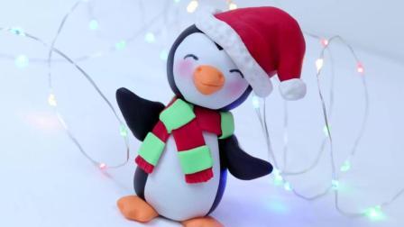 把蛋糕做成工艺品, 翻糖蛋糕圣诞小企鹅