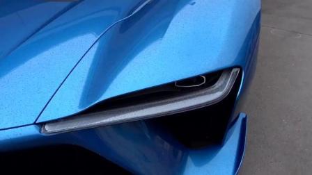 全国首试1360马力的蔚来汽车EP9, 蓝色的外观很诱人