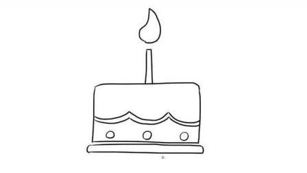生日蛋糕儿童亲子简笔画 宝宝轻松学画画
