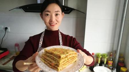厨娘这样做胡萝卜鸡蛋饼, 香酥软嫩, 营养健康, 只要五分钟孩子就能吃上早餐!