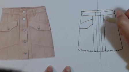 服装款式图教程: 短裙绘制