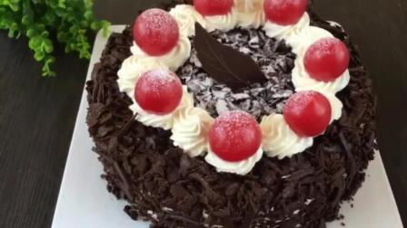 君之8寸戚风蛋糕的做法 水果裱花蛋糕 烘焙技术培训
