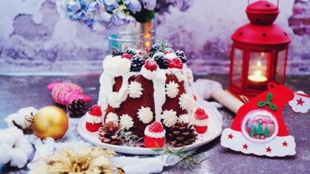 我的日常料理 第一季 圣诞派对一定要有的美味蛋糕 超详细步骤教你做圣诞雪屋蛋糕