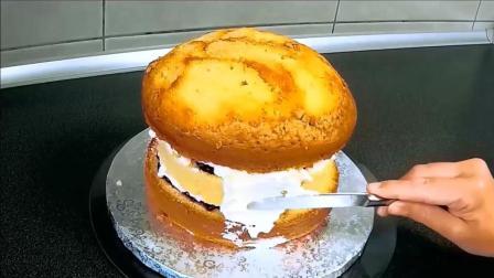 把蛋糕做成工艺品, 汉堡包翻糖蛋糕