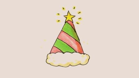 想让孩子圣诞节在学校脱颖而出, 木老师教他画个圣诞帽, 让宝宝在圣诞节主题墙上大展身手