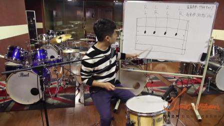 在线指导星星老师, 鼓手星星架子鼓教学_爵士鼓教学踩镲节奏型练习_简单学架子鼓教程