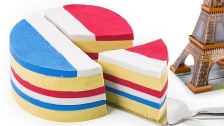 动力沙法国国家蛋糕做法太空沙六角动态沙彩虹锥蛋糕儿童学英语字母 【俊和他的玩具们