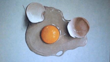 如何画出真实的破壳鸡蛋