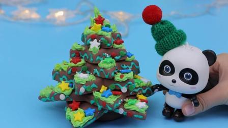 宝宝巴士玩具  圣诞树和巧克力屋