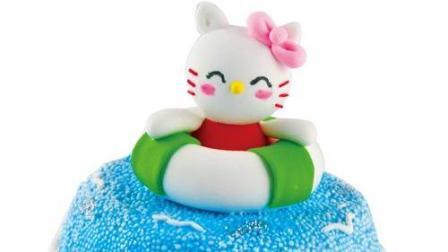 亲子手工教育 橡皮泥超轻粘土手工diy制作教程 彩泥——kt猫蛋糕
