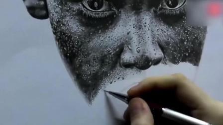 素描图片大全简单漂亮素描基础入门教程素描cut超写实铅笔素描——男人头像2素描教