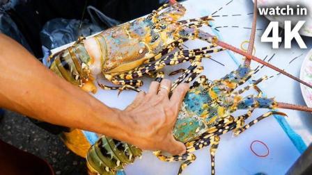 吃货老外陪我去吃泰国大龙虾
