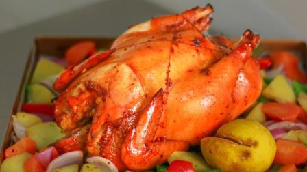 圣诞节快到了, 做一份香喷喷的小烤鸡!