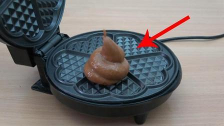 老外将玩具放进电饼铛中不断加热, 结果会怎样? 看完表示很绝望!