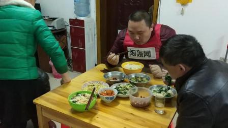 冬至习俗中国吃播吃面条美食视频