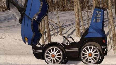"""地球最迷你""""汽车""""! 漂移越野, 车里还带脚蹬子!"""