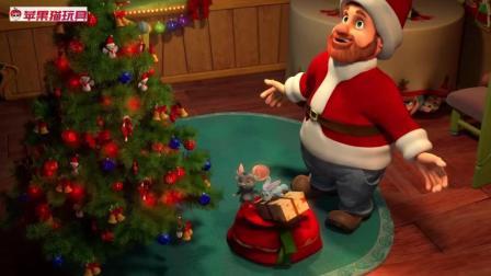 儿童学习英文歌圣诞歌曲 Merry Christmas圣诞老爷爷送礼物啦! 魔法小星星冰雪世界狂欢!