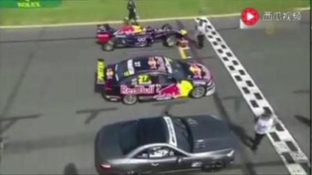 F1、超跑、奔驰轿车比赛, F1让半圈, 看看到底有多快!