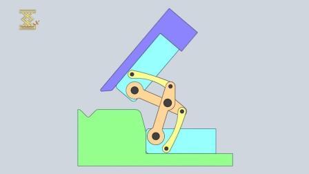 汽车门铰链结构, 看看原理动画