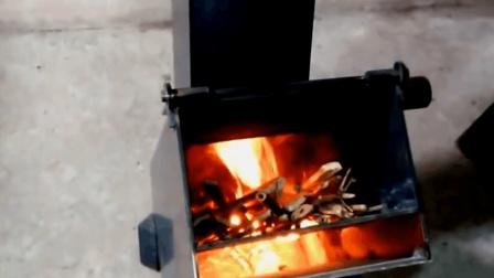 牛人发明火箭炉, 生火仅需一张A4纸, 火力太强, 值得学习推广