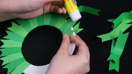 姑娘为你省点心, 教孩子制作圣诞花环, 不费事, 森系的唯美清新