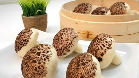 教你做: 蘑菇形状的牛奶馒头, 好看又好吃, 孩子一次能吃好几个