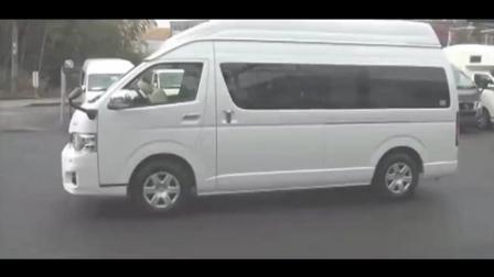 日本丰田大海狮面包车改房车又便宜且座椅变3床的设计妙, 好想买