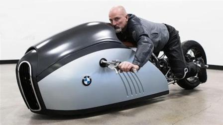 宝马概念摩托车, 趴着才能开, 售价100万元1辆都要买!