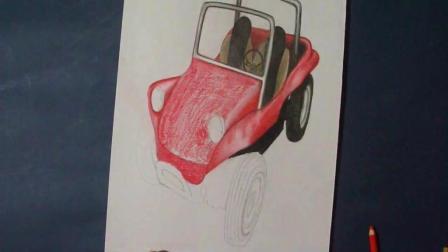 3D手绘教学, 手把手教你画一个立体的汽车, 加点油还能走