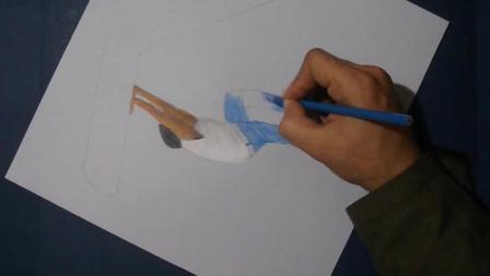 3D手绘教学, 手把手教你画一个立体的人物场景, 真真假假傻傻分不清