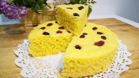 比蛋糕还好吃的牛奶玉米面发糕, 原来制作这么简单, 在家做干净又卫生